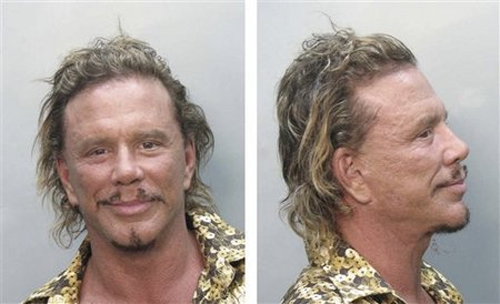The Wrestler's Mickey Rourke Arrested