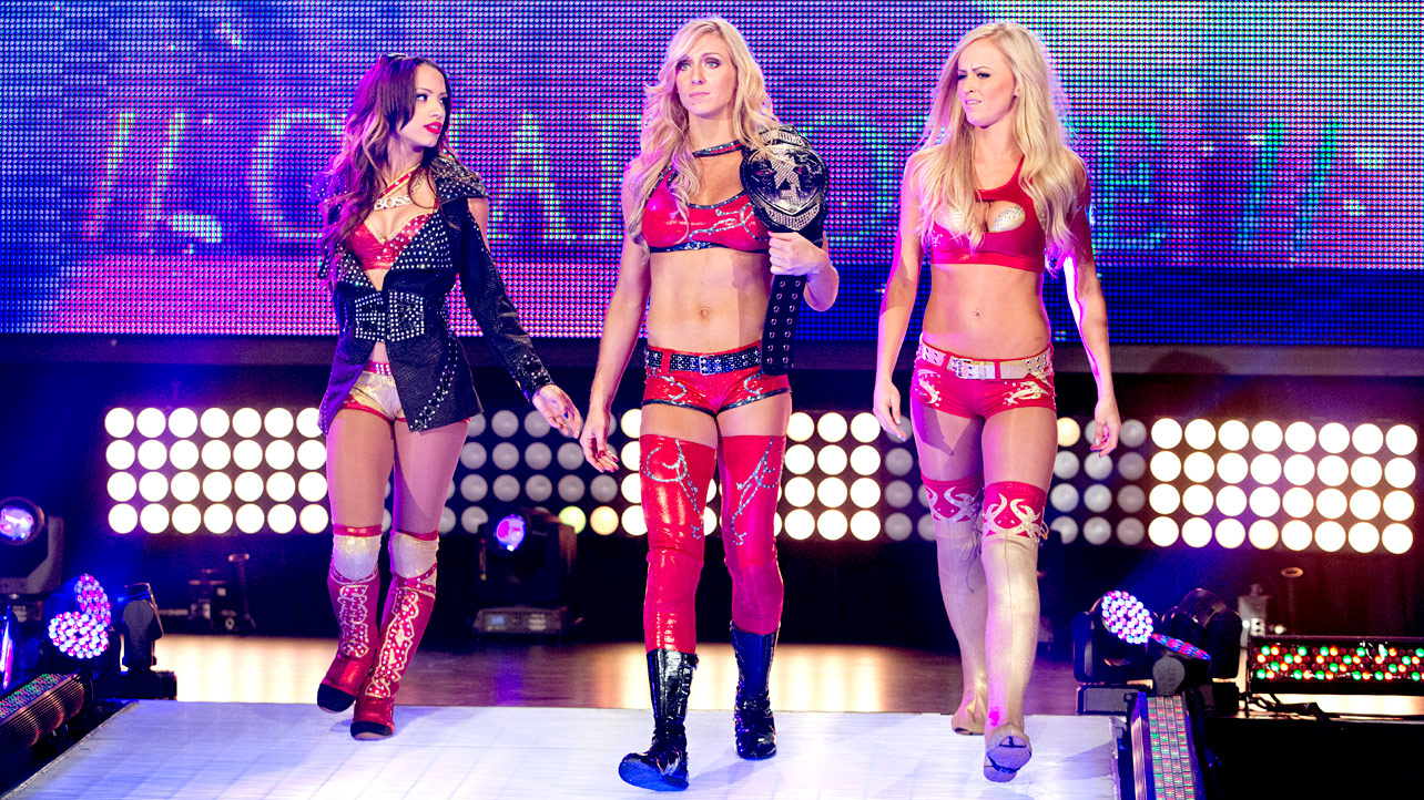 Charlotte, Sasha Banks and Summer Rae