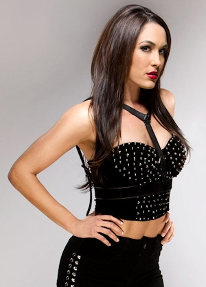 Brie Bella looks hot in leather