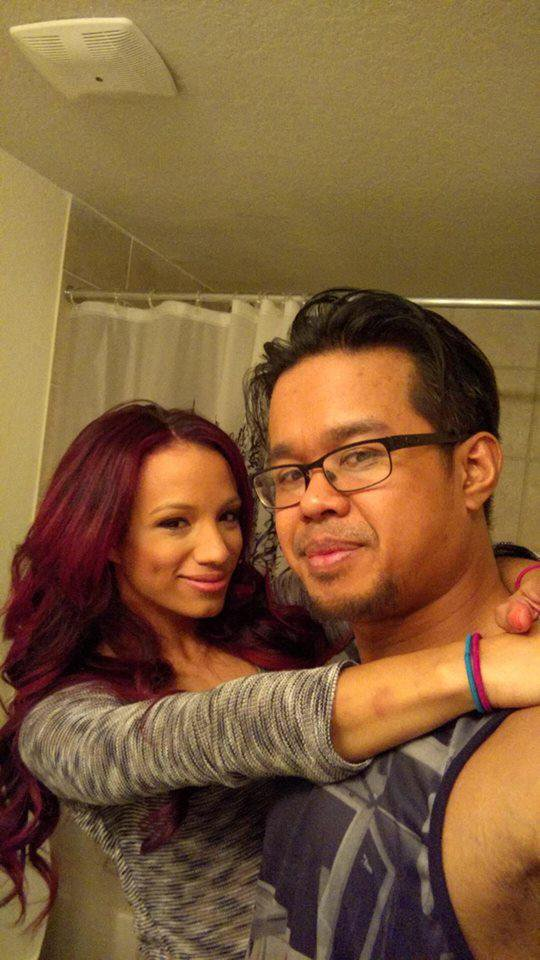 Happily married husband and wife:Sarath Ton and Sasha Banks