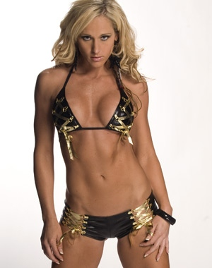 Michelle McCool in her bra and panties