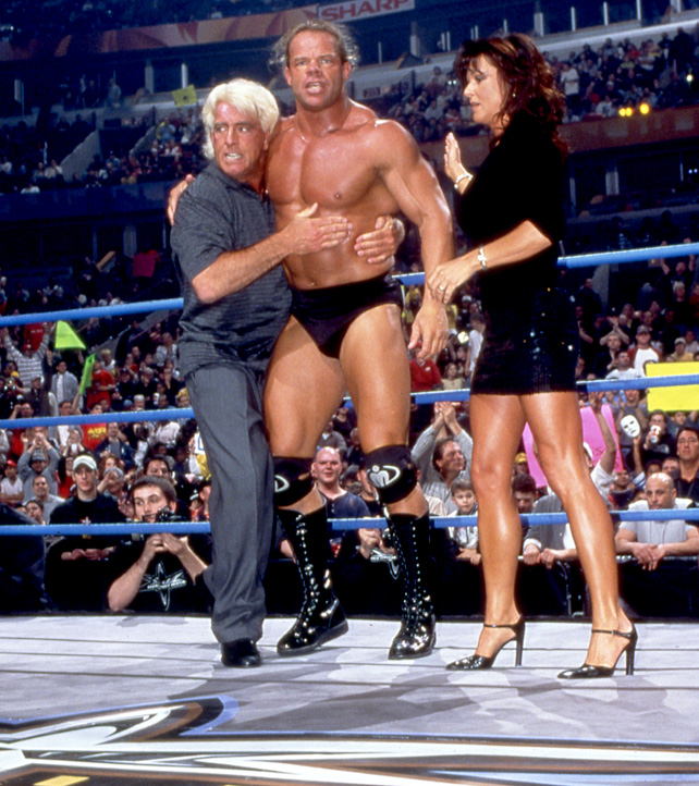 Lex Luger, Ric Flair and Miss Elizabeth