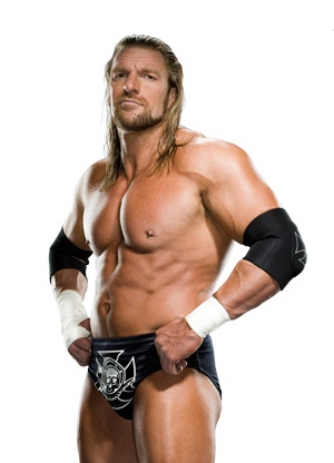 TRIPLE H HOLDS DOWN WRESTLERS