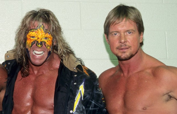 """Rowdy"" Roddy Piper and Warrior"