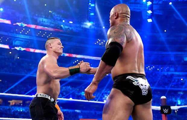John Cena Thanks The Rock And The Wwe Universe Wwe On Dr
