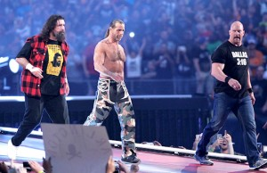 """Mick Foley, Shawn Michaels and """"Stone Cold"""" Steve Austin"""