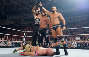 AJ Styles, Luke Gallows, Karl Anderson and John Cena