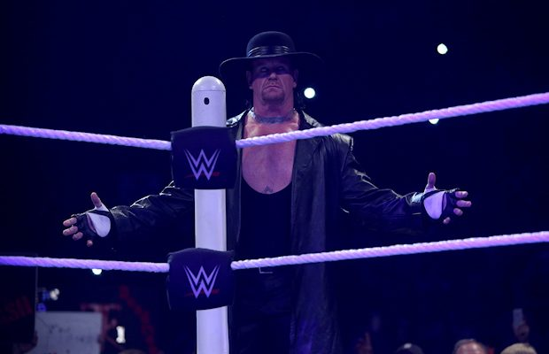 Undertaker is coming into the ring