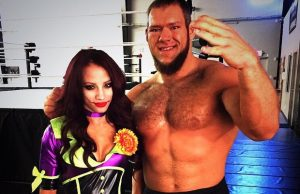Sasha Banks and Dylan Miley (Lars Sullivan)