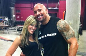 "Lilian Garcia and Dwayne ""The Rock"" Johnson"