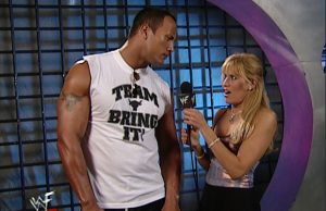 The Rock and Lilian Garcia