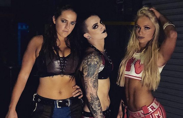 Sarah Logan, Ruby Riot and Liv Morgan