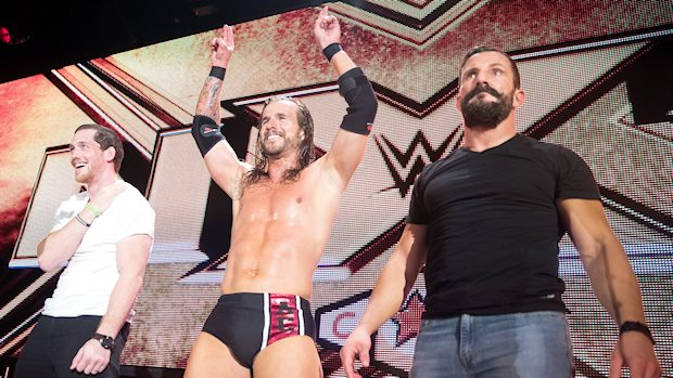 Adam Cole, Kyle O'Reilly and Bobby Fish