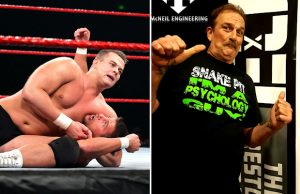 "Harry Smith and Jake ""The Snake"" Roberts"