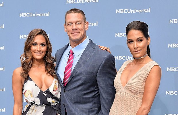 Nikki Bella, John Cena and Nikki Bella