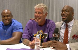 Anthony Bourdain is revealed as Titus O'Neil's latest acquisition to Titus Worldwide