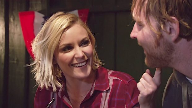 Renee Young and Dean Ambrose