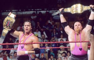 "Bret Hart and Jim ""The Anvil"" Neidhart"
