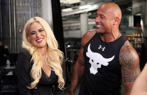 "Lana and Dwayne ""The Rock"" Johnson"