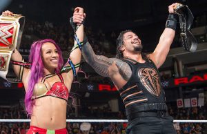 Sasha Banks and Roman Reigns