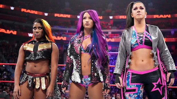 Ember Moon, Sasha Banks and Bayley