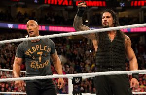 "Dwayne ""The Rock"" Johnson and Roman Reigns"