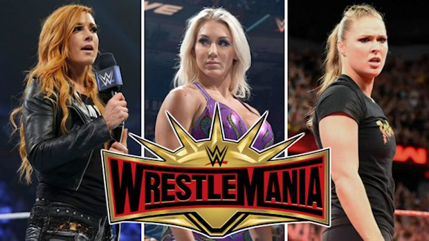Becky Lynch, Charlotte Flair and Ronda Rousey