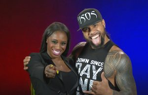 Naomi and Jimmy Uso