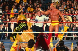 """Macho Man"" Randy Savage and Hulk Hogan"