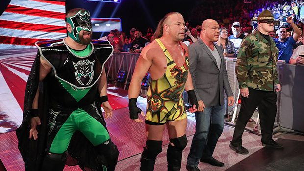 The Hurricane, Rob Van Dam, Kurt Angle and Sgt. Slaughter